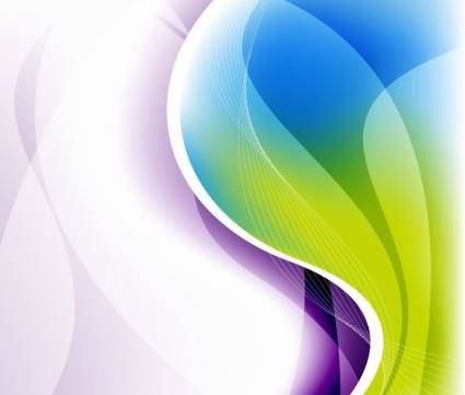 free vector Abstract Illustration Waves Backgro