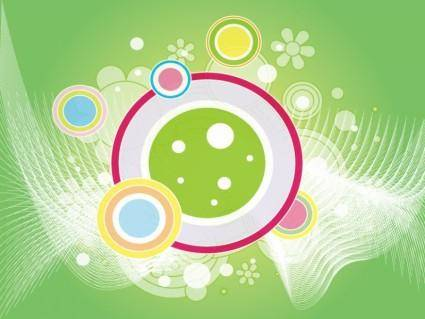 Abstract Retro Green Vector Backgro
