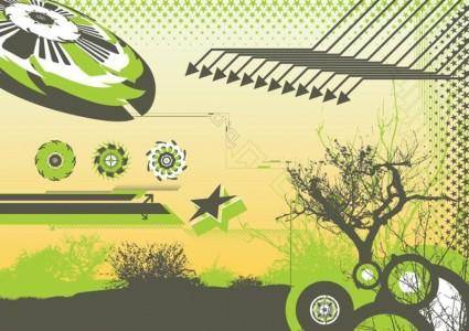 free vector Abstract Nature Background Graphics
