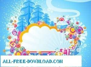 free vector Vector Art Abstract Winter