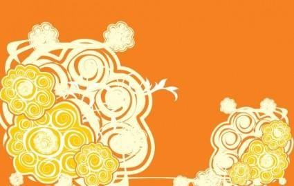 Orange Abstract Vector Design