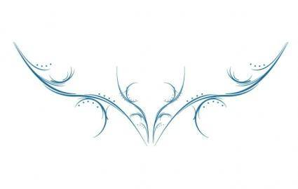 free vector Abstract Antlers