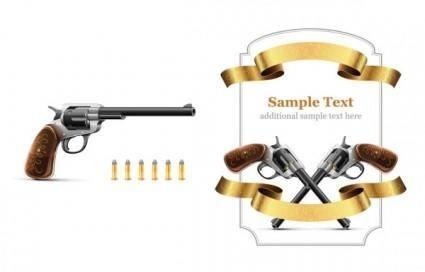 free vector Revolver theme vector
