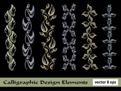 European lace pattern line draft 05 vector