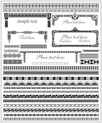 free vector Exquisite lace pattern 05 vector