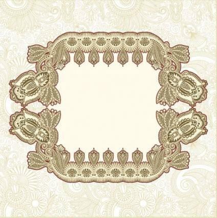 Classic pattern border 01 vector