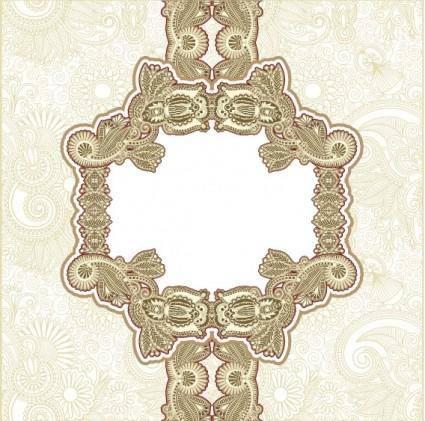 Classic pattern border 02 vector