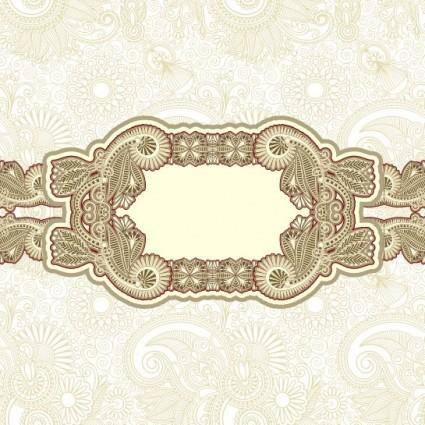 Classic pattern border 05 vector