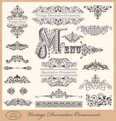 European lace pattern 02 vector