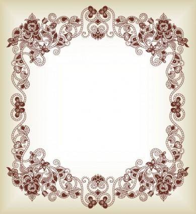 Fine pattern border 01 vector