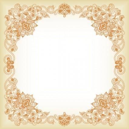 free vector Exquisite pattern border 03 vector