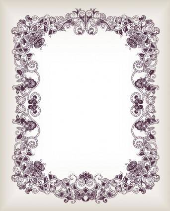 Fine pattern border 05 vector