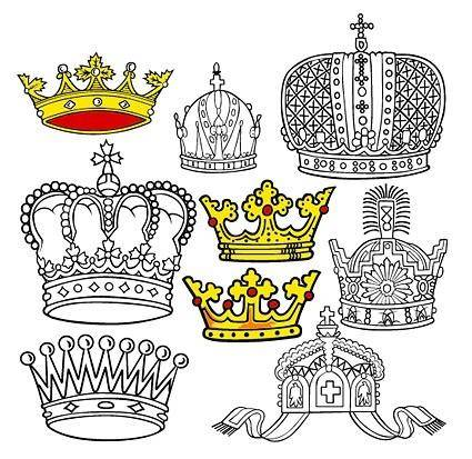 free vector Beautiful crown vector 2