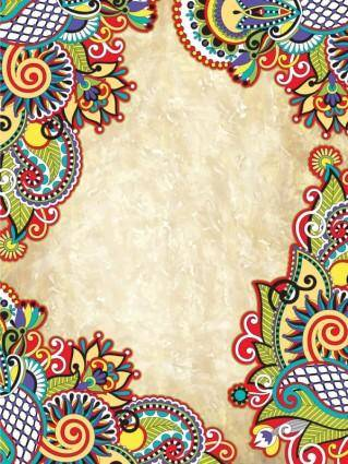 free vector Retro pattern border 01 vector