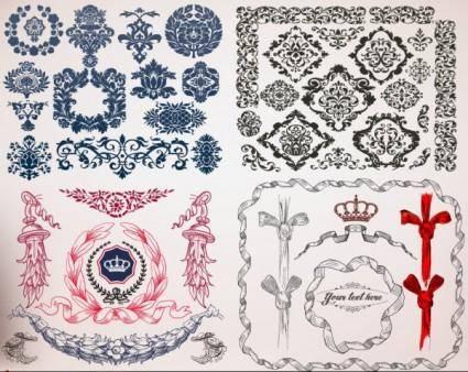 European lace border vector
