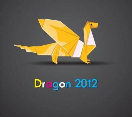 free vector Origami dragon 02 vector