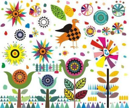 free vector Cute cartoon the windmill pattern vector