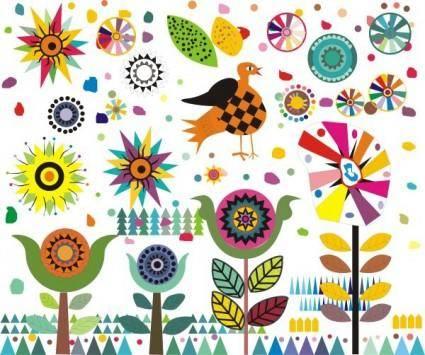 Cute cartoon the windmill pattern vector