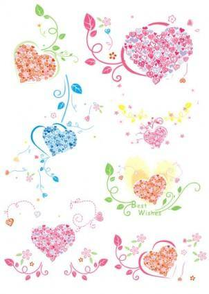 free vector Heartshaped ring pattern vector