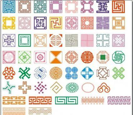 free vector 50 kinds of classical pattern vector