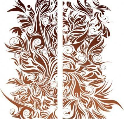 free vector Bloom pattern vector