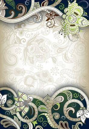 free vector The gorgeous classical pattern vector 2