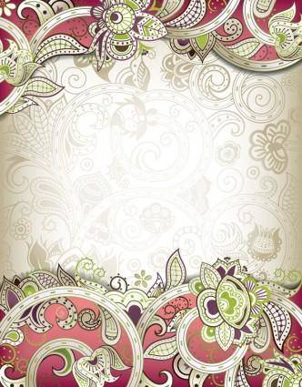 free vector The gorgeous classical pattern vector 3
