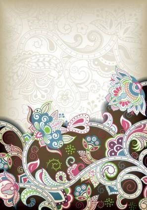 free vector The gorgeous classical pattern vector 5
