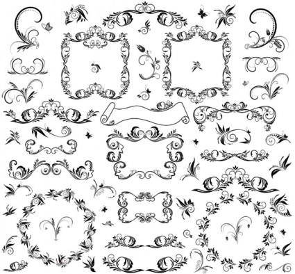 The patterns line art vector