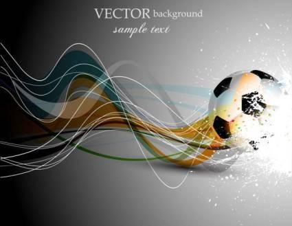 Dynamic football 04 vector