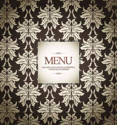free vector Prime pattern menu cover 02 vector