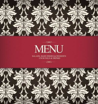 Prime pattern menu cover 03 vector