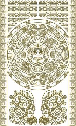 Mayan patterns 02 vector