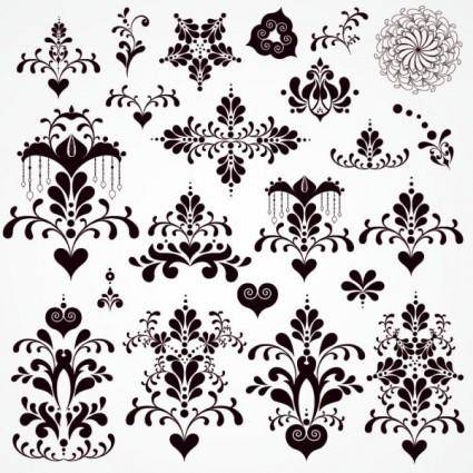 free vector Classic lace pattern 07 vector