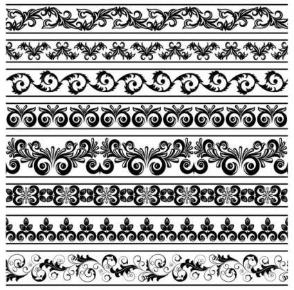 free vector Classic lace pattern 08 vector