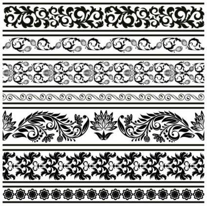 Classic lace pattern 09 vector