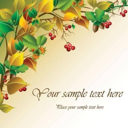 Autumn fruit vector