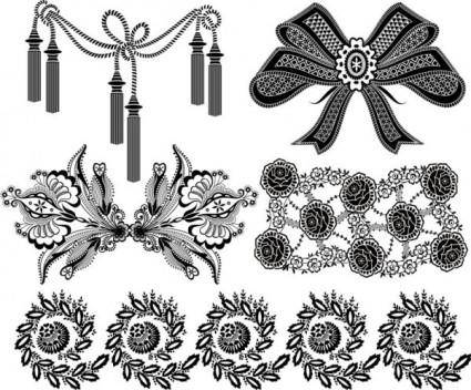 free vector Black and white patterns 05 vector