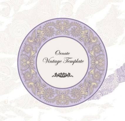 Classic label pattern 05 vector