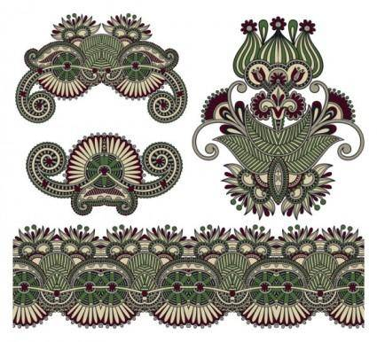 free vector Classic decorative patterns elements 04 vector