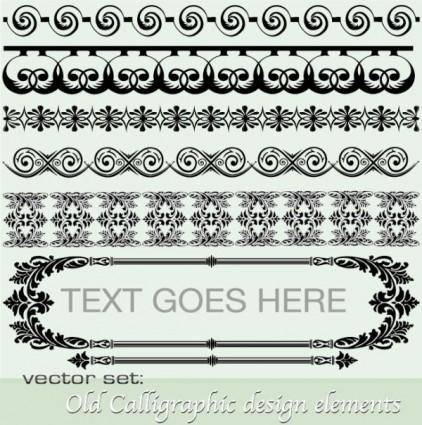 Classic lace pattern 01 vector