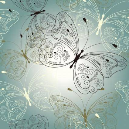 Beautiful butterfly pattern 03 vector