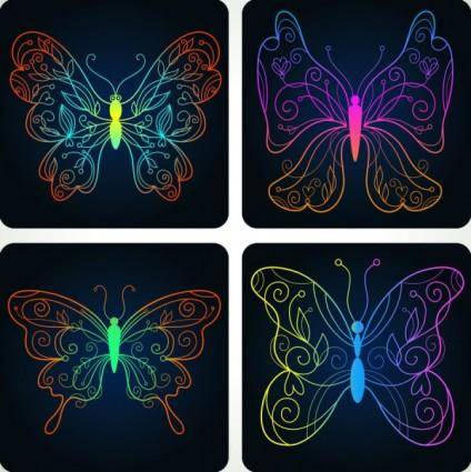 Beautiful butterfly pattern 04 vector