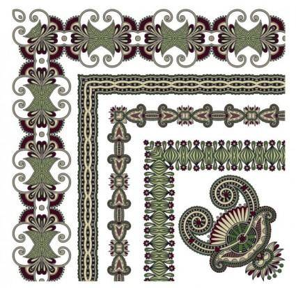 free vector Classic decorative patterns elements 03 vector