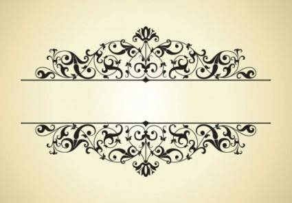 Classic pattern border 01 vector