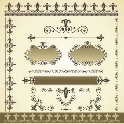 Classic pattern border 03 vector