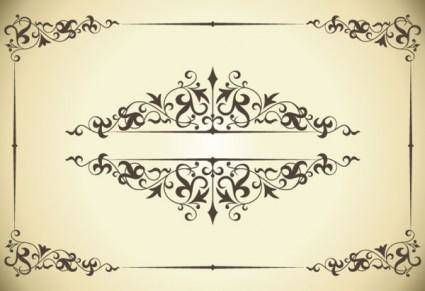 free vector Classic pattern border 04 vector