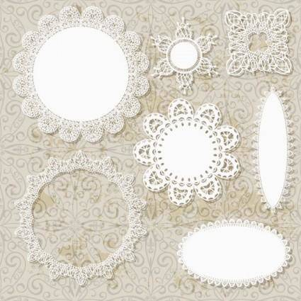 free vector Lace pattern lace 02 vector