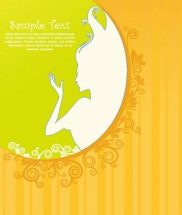 Beautiful silhouette pattern 04 vector