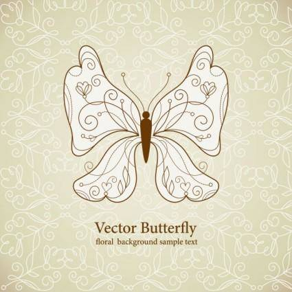 Beautiful butterfly pattern 05 vector